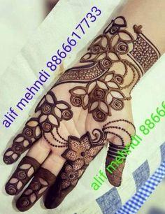 25 Latest Arabic Mehndi designs of 2018 with stunning Art Simple Mehndi Designs Fingers, Henna Tattoo Designs Simple, Finger Henna Designs, Mehndi Designs 2018, Mehndi Designs For Girls, Unique Mehndi Designs, Dulhan Mehndi Designs, Beautiful Mehndi Design, Mehendi
