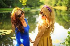 Demoazele: Flori de poveste  - Demoazele ❤ Fashion Painted Dr...