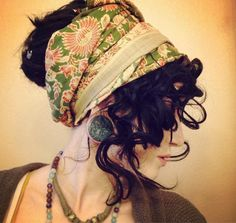 Gypsy hairstyle and wrap idea...