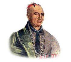 Picture of Mohawk Native American *** George Catlin  kK