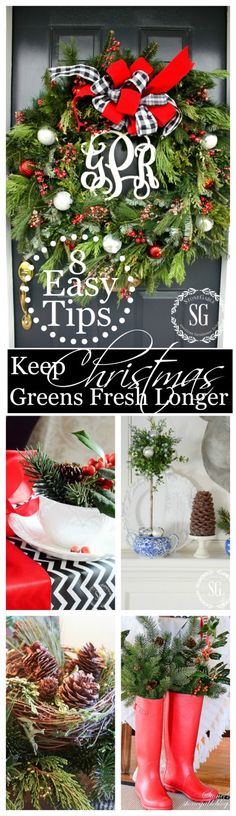8 TIPS FOR KEEPING CHRISTMAS GREENS FRESH LONGER