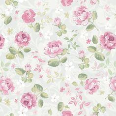 Papel De Parede Floral Rosas 34   JMI DECOR   Elo7