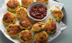 Yotam Ottolenghi's semolina recipes: crisp couscous and saffron cakes, plus sweet root vegetable stew with semolina dumplings