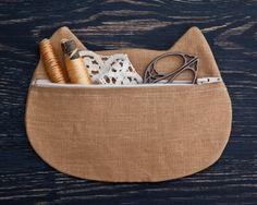 Cosmetic Bag Makeup bag Cat Pencil Case Bridesmaid by JuliaWine