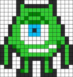 Mike Wazowki Perler Pattern bead pattern