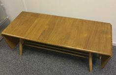 Vintage Retro 1960s Ercol Dual Drop Leaf Coffee Table Model 456 Blonde Elm Beech