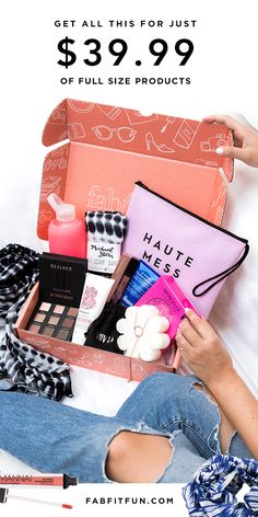 Discover your new favorite products w/FabFitFun. Just $39.99 with code HAPPY to get over $200 of the season's hottest beauty, fashion, + wellness items.