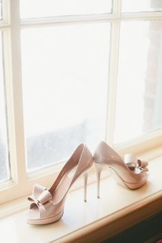 Nude shoes would be gorg with that dress too! Nude Shoes, Bow Shoes, Me Too Shoes, Stilettos, Pumps, High Heels, Bridal Shoes, Wedding Shoes, Wedding Bands