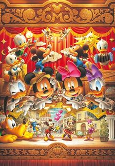 Japan Jigsaw Puzzles Tenyo Disney Characters  Marionette of Love Minnie and Mickey DG-315-118    Origin : Japan (Made in Japan)  Condition : 100% Bran