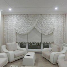 White Color Curtain Type,White Color Curtain Type Curtain track or curtain rod? The most typical forms of fastening for curtains are rods and rails. Sometimes ropes maybe, but. Drapes And Blinds, Types Of Curtains, Drapes Curtains, Interior Design Living Room, Living Room Designs, Living Room Decor, Door Dividers, Rideaux Design, Soft Furnishings