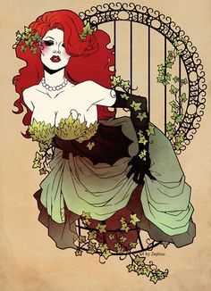 I've been Poison Ivy twice now and I'd love to do it again, possibly with this artwork as inspiration.