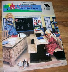 Plastic Canvas Doll Furniture School Pattern Booklet