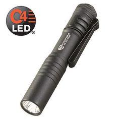 "Streamlight - 66318 - Microstream 3.5"""" Flashlight w/ Pocket Clip and White LED, Black"