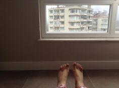 my feet turning of the world