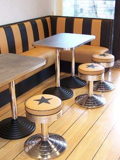 diner m bel im american diner style dinerb nke tische oder theken retro diner kitchen. Black Bedroom Furniture Sets. Home Design Ideas
