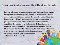 Colección de carteles: La evolución de la educación atraves de los años . Autora: Alejandra Pérez González. A 09/01/2014