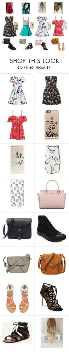 """""""Can you guess who each one is???"""" by rain-caniff-482 ❤ liked on Polyvore featuring Chi Chi, H&M, Casetify, RIPNDIP, Michael Kors, Converse and Pour La Victoire"""