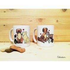 La vida es mejor con perros. #taza #perro #buenosdias #perros #doglover #pinterest