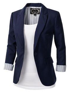 navy women's blazer - Google Search