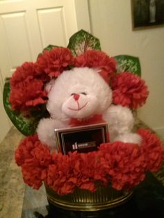 Teddy Bear with photo frame on solid base. $29.00 you pay shipping and handling.