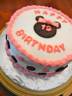 minnie mouse cake directions - Google Search