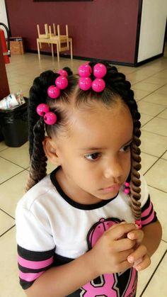 Hair Puff Balls Hairstyle For Little Black Girls Hair