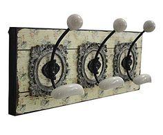 EL MUNDO DE JANE AUSTEN: Perchero de pared en madera con 3 ganchos Allure