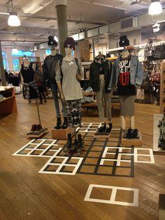 Floor Graphics   Urban Outfitters Visual Merchandising & Store Design Placement. #visual_merchandising #retail