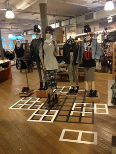 Floor Graphics | Urban Outfitters Visual Merchandising & Store Design Placement. #visual_merchandising #retail