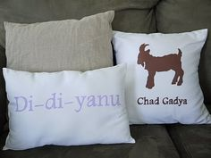 Passover pillows, liked to from Ohdeeoh :)