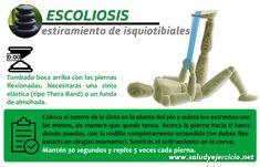 Escoliosis - Estiramientos de isquiotibiales. Ejercicio para frenar la escoliosis.