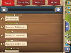 Castle Clash by IGG - Social Chat - UI HUD User Interface Game Art GUI iOS Apps Games