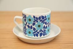 at kitchen [Arabia Finland Ahmet tea cup]