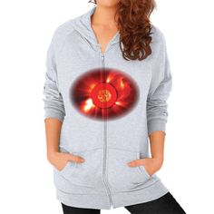 NASA Images Woman's Zip Hoodie Solar and Heliospheric Observatory (SOHO)