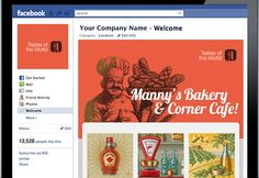 FB welcome page.