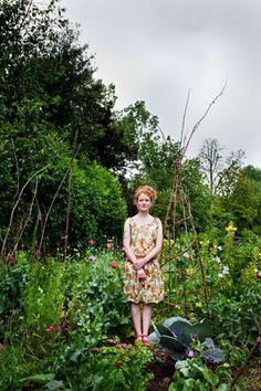 Alys Fowler in her garden