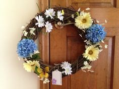 Spring Grapevine Decorative Wreath  Purple by WreathDesignsbySteph, $35.00