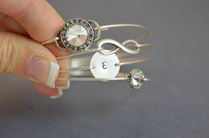 Sparkle+Bangle+Bracelet+Set+Silver+Bangle+Set+by+LayeredWithLove,+$38.00