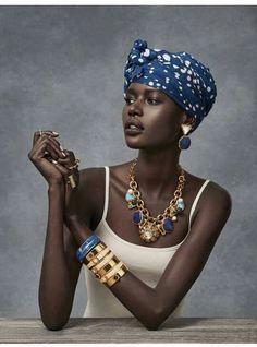 Interesting jewelry style.