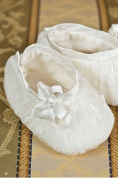 """Elegant booties for girls, made from the finest Chantilly silk lace , matched with the """"Belle"""" dress, Petite Coco. Baby Bootees, Belle Dress, Baby Christening, Winter Collection, Elegant, Lace, Shop, Fabric, Fashion"""