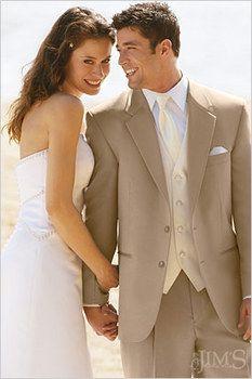 Husband's Suit -Tan Suit by Jim's Formalwear