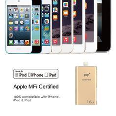 PQI iConnect mini Flash Drive USB 3.0 - iphone