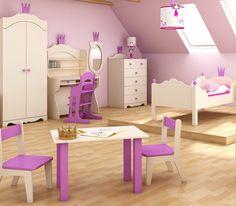 Zestaw Diana dla księżniczki. http://sweethomeshop.pl/pokoj-mlodziezowy/zestaw-mebli-diana-detail