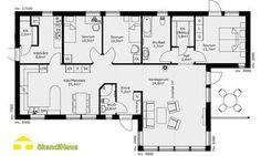 Schwedenhaus SkandiHaus 1-geschossig 122 Grundriss 123-4