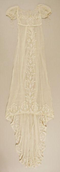 Vestido francés de algodón de 1804. #Metropolitan No.26.260.93 - what is lingerie for, lsexy lingerie, italian lingerie *ad