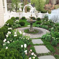 In this article we will discuss how to design a strictly formal garden on a large, rectangular area. Designing formal garden needs a little . Formal Gardens, Small Gardens, Outdoor Gardens, Modern Gardens, Garden Fountains Outdoor, Water Gardens, Unique Garden, Small Garden Design, Yard Design