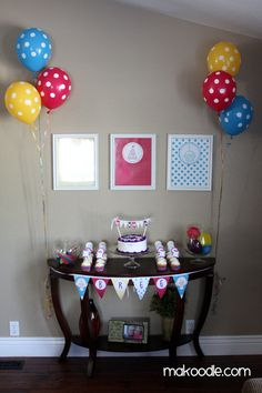 Polka Dot Birthday Party.  Super cute...