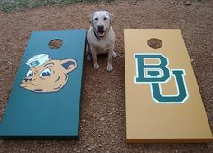 #DIY Baylor cornhole boards // These are a must for football season!