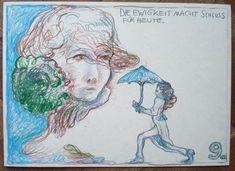 "GÜNTER BRUS, ""PHANTOM-PALÄSTE"" Illustrations, Drawings, Prints, Art, Art Background, Illustration, Kunst, Sketches, Performing Arts"