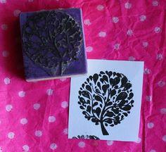 Sello árbol https://www.facebook.com/TiendaPlastilina